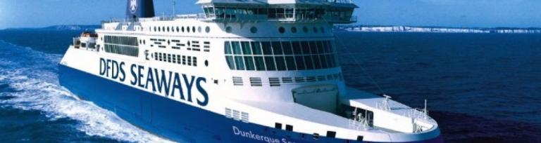 DFDS Freight Ferry going to dunkirk