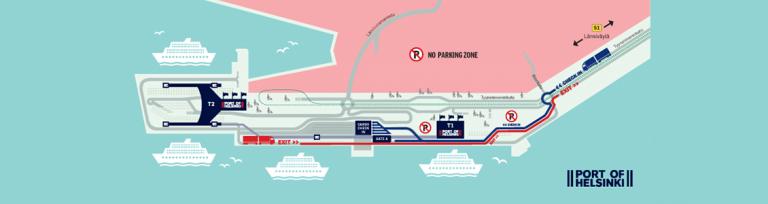 Port of Helsinki map