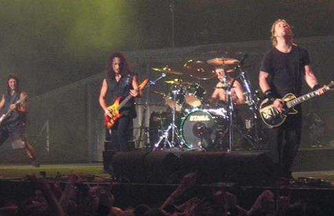 events and concerts require freight to transport equipment across europe - pic of Metallica in concert