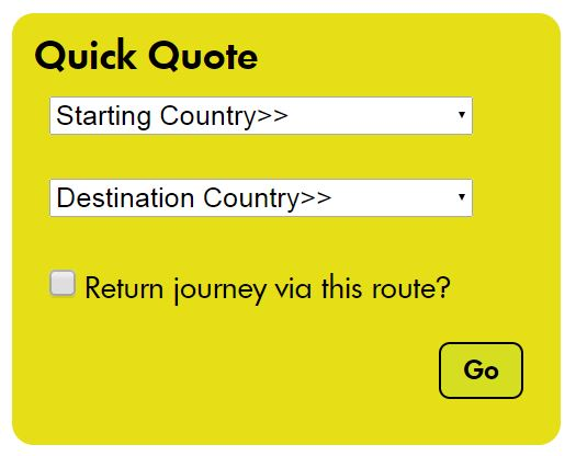 Image of the freight ferry quick quote button